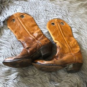 Vintage tiny lama slightly distressed cowboy boots